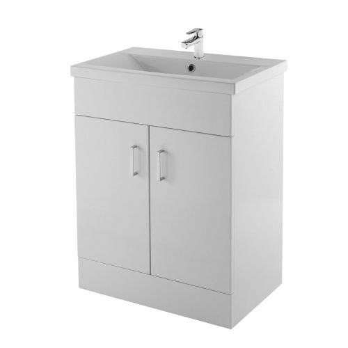 Ice Cube 600mm Floor Standing Cabinet & Mid-Edge Basin